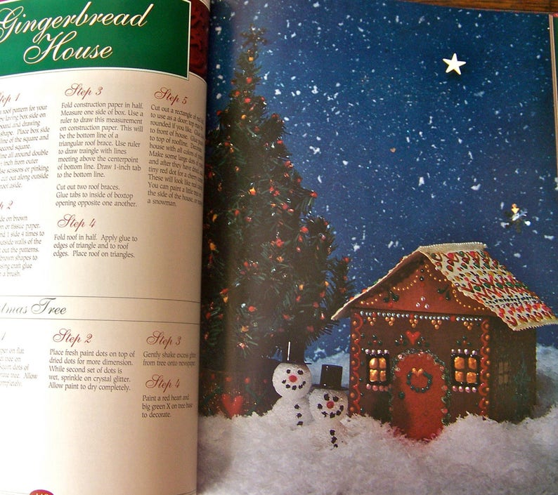 Vintage Christmas Craft Book By The Fireside Better Homes and Gardens At Home 1993