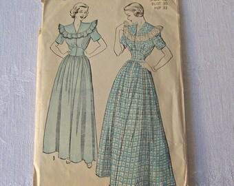 Vintage Housecoat Sewing Pattern Advance Size 12