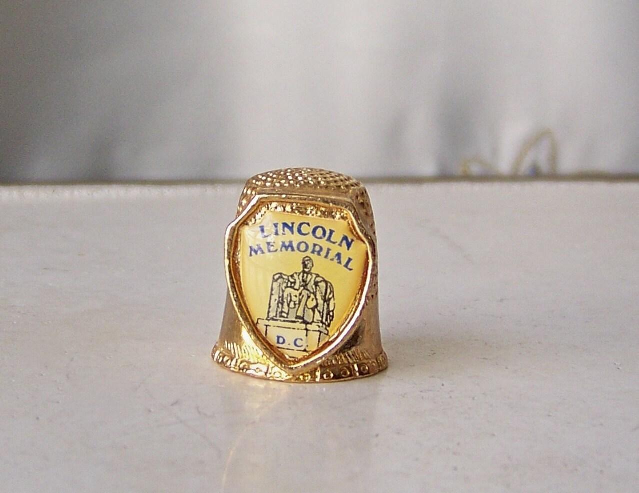 Souvenir dé à 1980 coudre Lincoln Memorial D.C. Vintage 1980 à nous livraison gratuite bceaec