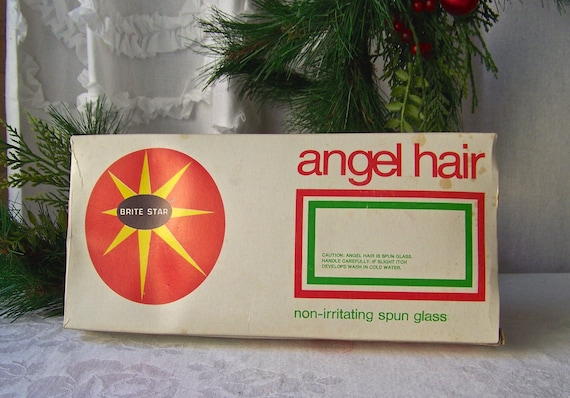 Angel Hair Christmas Tree Decor Spun Glass Vintage 1960s Free Etsy