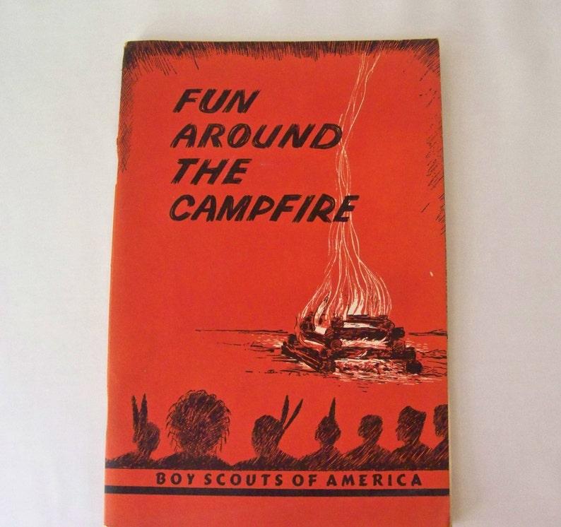 Vintage Boy Scouts Fun Around The Campfire 1958