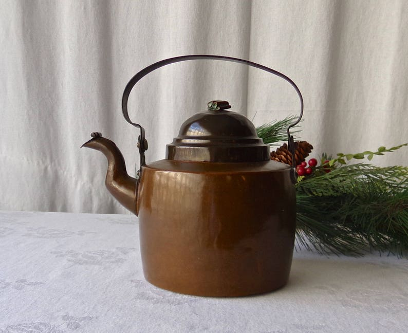 Copper Teapot Decorative Tea Kettle Handcrafted Dovetail Etsy