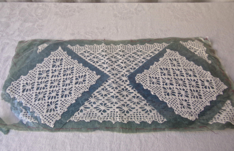 Crochet Sample Vintage 1930s Free Shipping Us Etsy