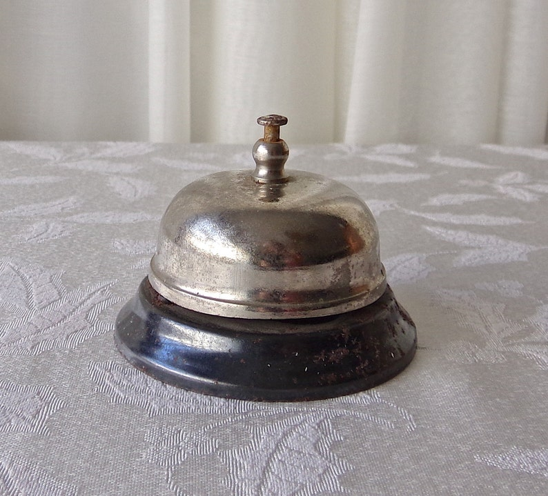 Pleasant Vintage Working Front Desk Bell Hotel Motel Office Interior Design Ideas Apansoteloinfo