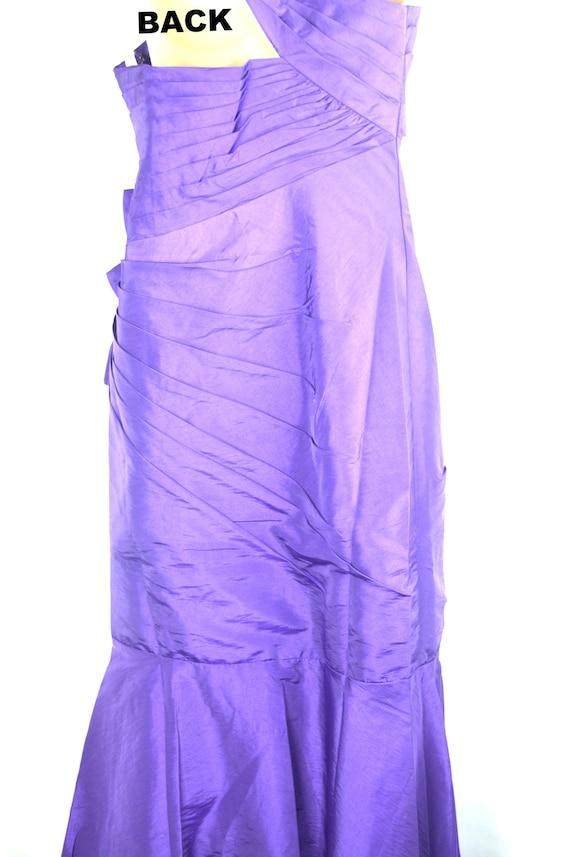 Vintage Net Tulle Purple Evening Gown