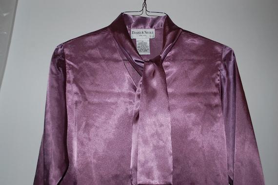 Vintage Lilac Secretary Blouse - image 3