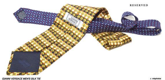Vintage Gianni Versace Men's silk tie