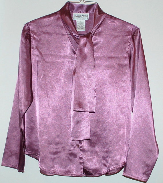 Vintage Lilac Secretary Blouse