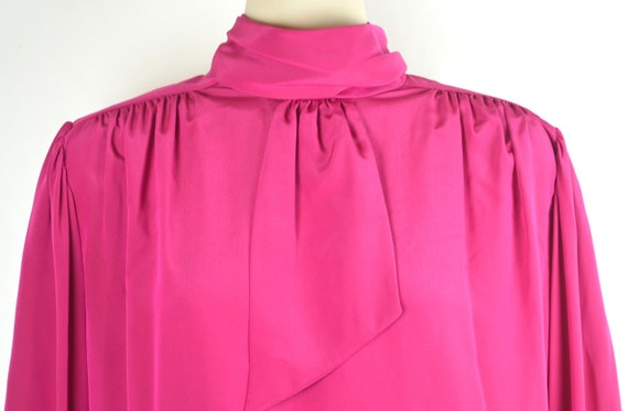 Vintage Hot Pink Secretary Blouse - image 2