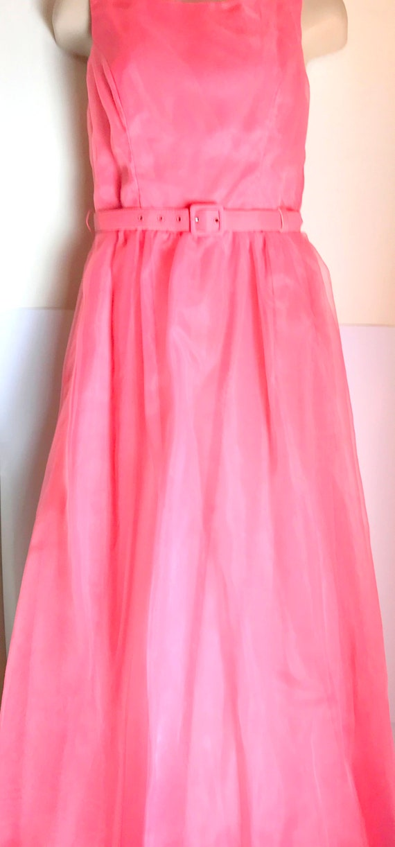 Gorgeous coral vintage evening gown