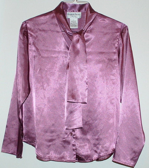 Vintage Lilac Secretary Blouse - image 1