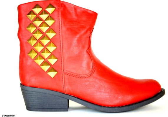 Vintage Cowboy Leather Ankle booties