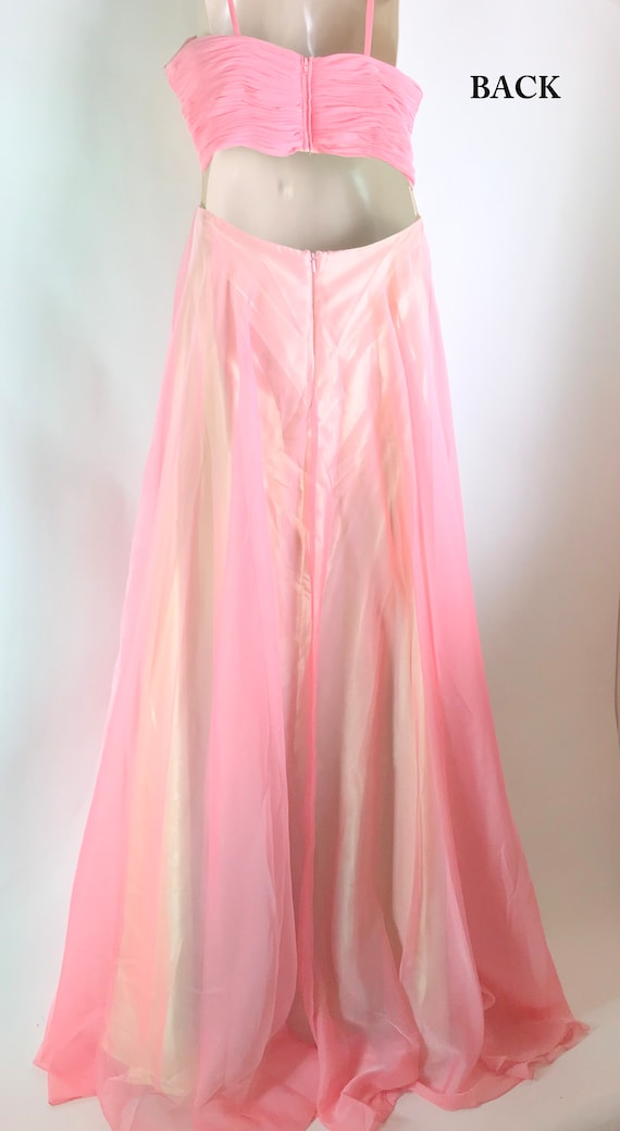 Vintage Coral Ball Gown