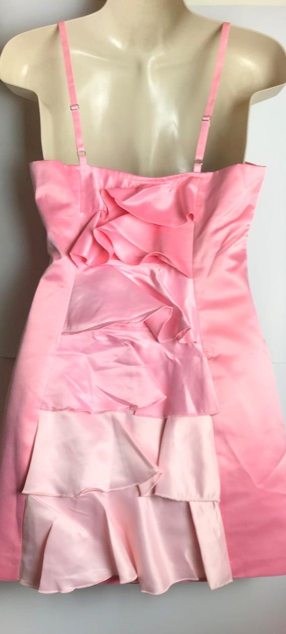 Vintage hot pink party dress - image 4
