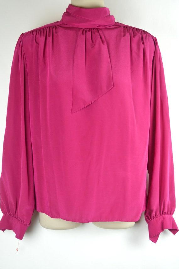 Vintage Hot Pink Secretary Blouse - image 1