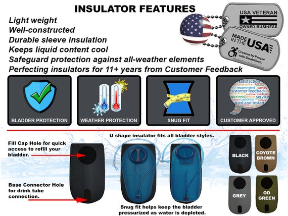Outdoor Drink Hiking Running Tube Cover Sleeve Insulation For Hydration Bladder
