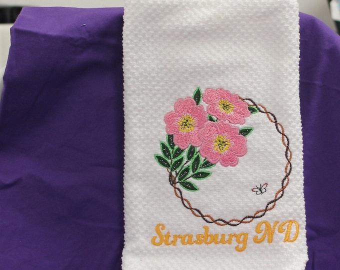 Kitchen Towel w/ Flowers