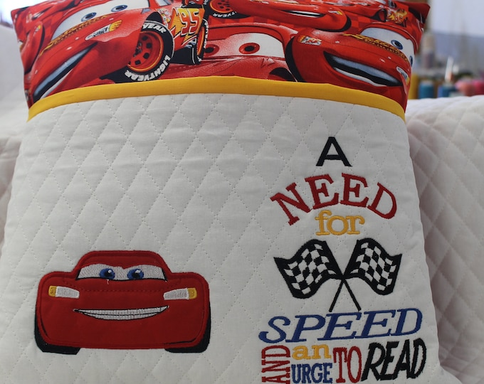 Lightening McQueen(Cars) Reading Pocket Pillow