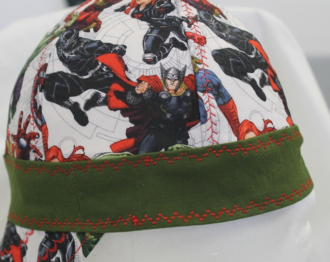 Welding cap, fitter cap, custom made to size, lined but not reversible