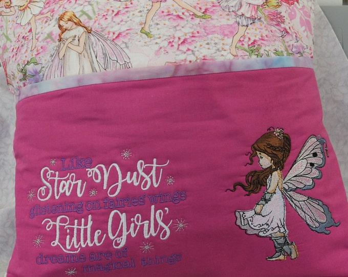 Fairy reading pocket pillow