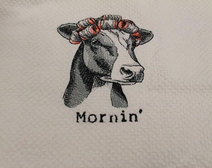 Kitchen towel machine embroidered