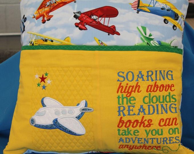 Plane adventures Reading pocket pillow