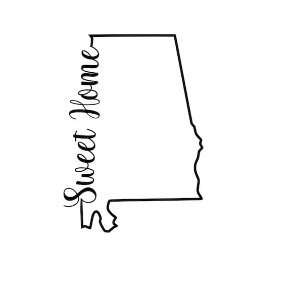 outline of the state of alabama