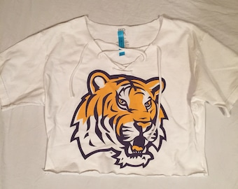 LSU Tigers gameday couture top GameDay shirt LSU Tigers Football shirt gear  College Party attire Tigers apparel LSU football sec gameday fc2155d78