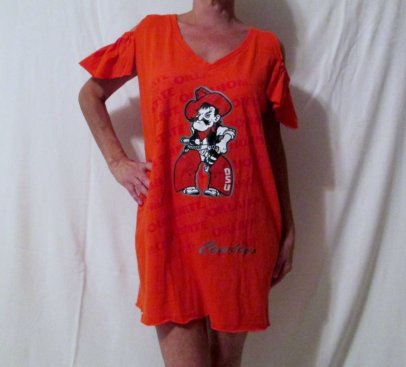 online retailer b87ed e044c gameday couture OSU Game Day Dress OSU Cowboys shirt Recruitment Gameday  Oklahoma State Cowboys tailgate College football top Rush OSU dress