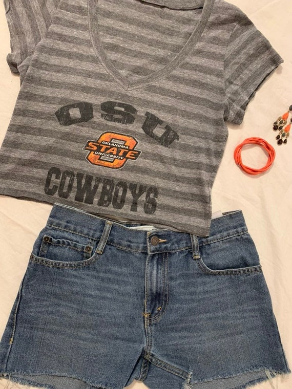 timeless design f5cd1 b9f40 OSU Game Day cropped top Oklahoma State Cowboys Recruitment Tailgate Party  gear OSU Cowboys shirt Football clothes gameday Couture crop top