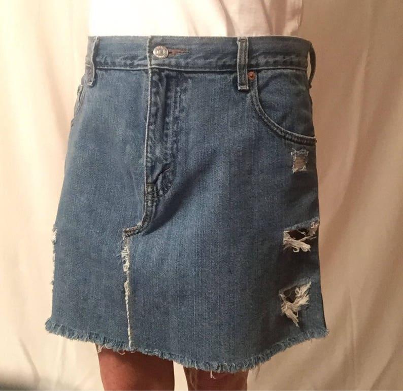 8cb4c28140 Levi's Mini Skirt Festival Clothes Vintage Levis Denim   Etsy