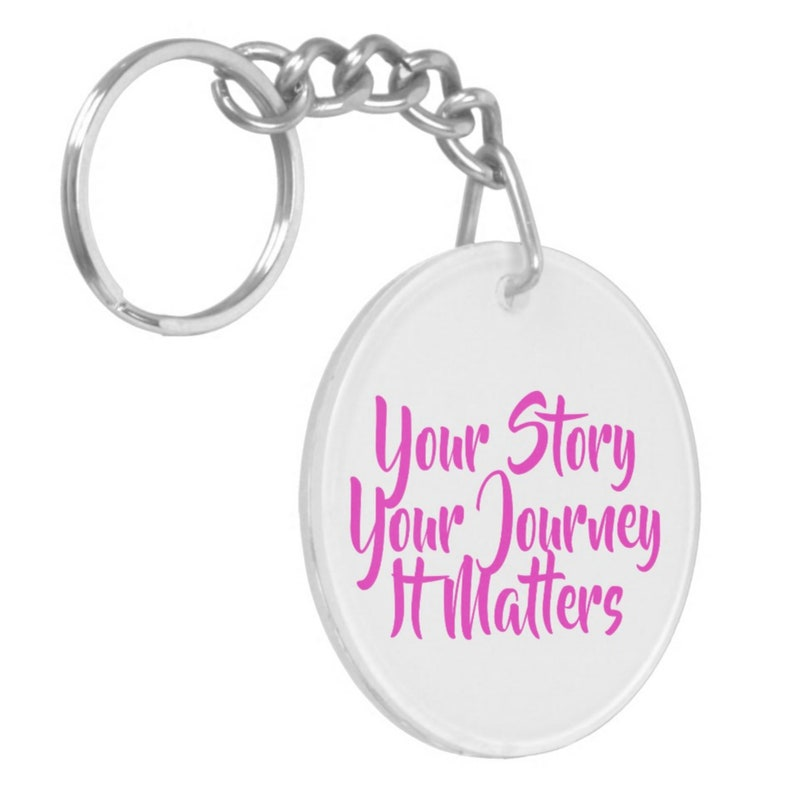 End Child Sexual Abuse Acrylic Double-Sided Key Chain
