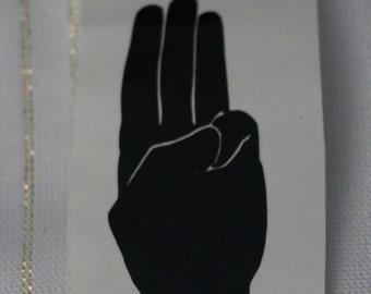 Three-Finger Salute (District 12 Salute) Vinyl Decal