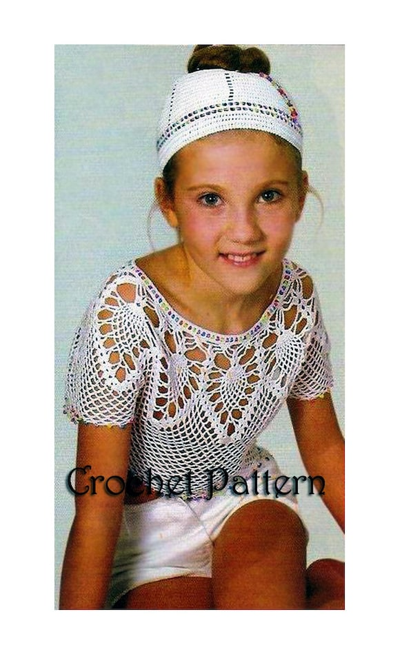 Summer Girls 7 Years Old Pineapple Crochet Top Pattern With Etsy