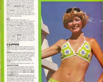 Vitage Pattern of bikini, 70's