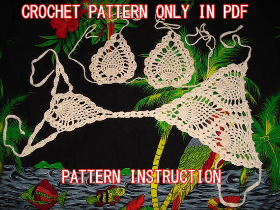 Crochet Pineapple Bikini G String Pattern And Top Instruction