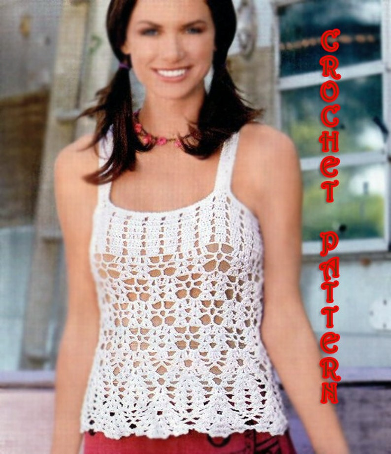 Crochet For Girls And Woman Sumer Top Pattern Instruction Etsy