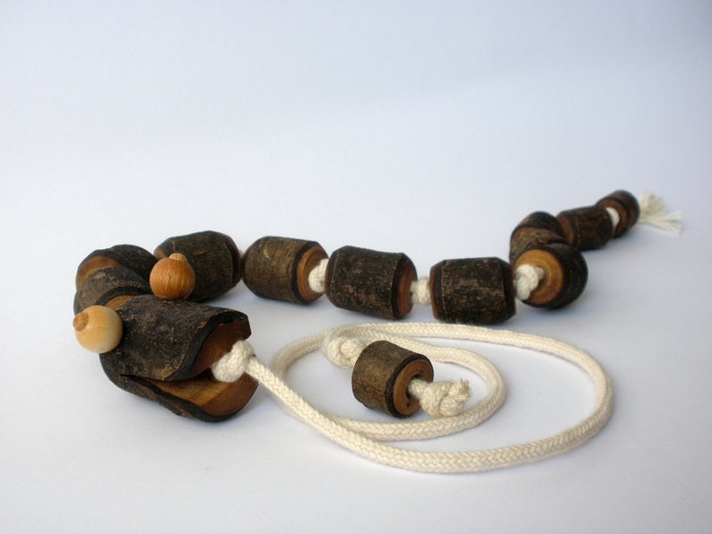 Wooden pull toy  eco friendly  SSSSSNAKE image 0