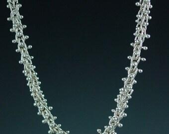 Fine Silver Caterpillar Necklace