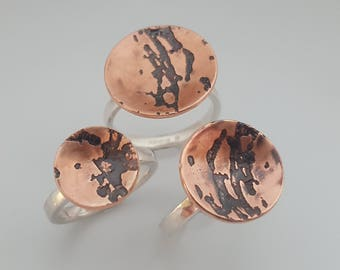 Copper and Silver Beer Speak Ring