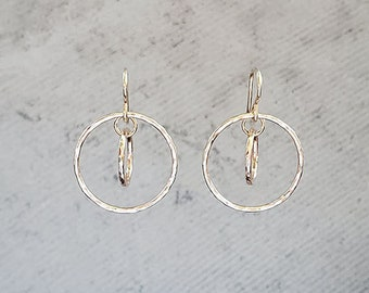 Small 14k Gold Fill Double Hoops