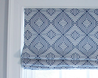 Trina Turk Amazing Maze Indoor/Outdoor  for Schumacher Roman Shades (comes in several colors)