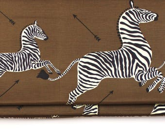Scalamandre Zebras Roman Shades (shown in Safari Brown-comes in other colors)