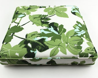 Pillow cover Spark Modern pillow Fig Leaf Faded on Hemp- ON BOTH SIDES floral