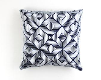 ON SALE Trina Turk Amazing Maze Indoor/Outdoor for Schumacher Pillows in Ocean (20 X 20)