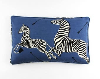 Scalamandre Zebras Pillows (shown in Denim-comes in other colors)