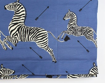 Scalamandre Zebras Roman Shades (shown in Denim-comes in other colors)