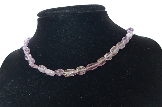 Amethyst Beaded Choker, Amethyst Necklace, Amethys