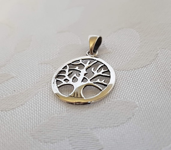 Sterling Tree of Life Pendant, Sterling Silver Tre