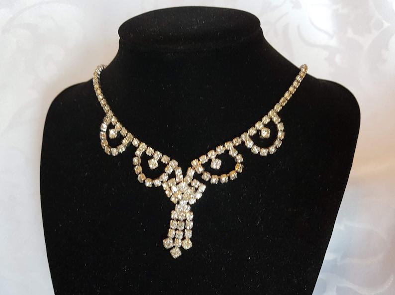Kramer Jewelry Rhinestone Choker Crystal Necklace Rhinestone Jewelry Kramer Rhinestone Necklace Kramer Wedding Choker Crystal Choker